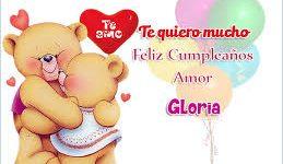 Gloria feliz cumpleaños