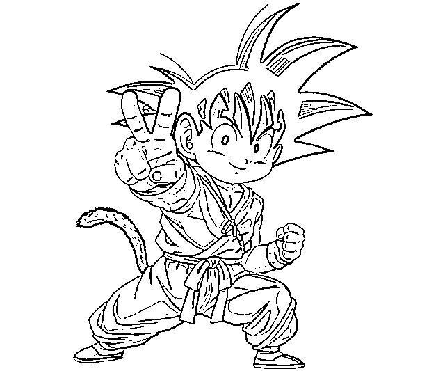 Imgenes para colorear de Goku  todo en imgenes