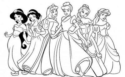 princesa-disney-para-colorear