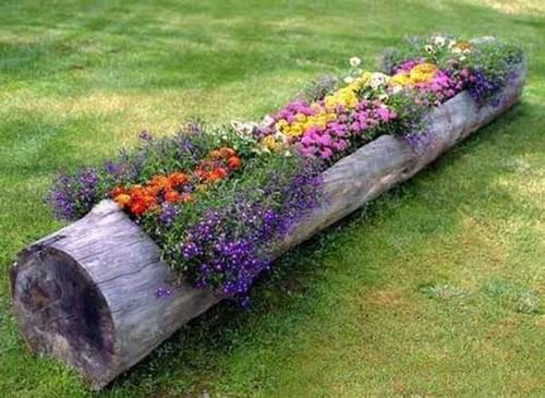 tronco-con-flores-decoraciones-de-jardines-rusticos