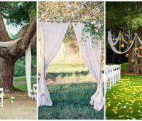 Imágenes de estilos de cortinas para una boda