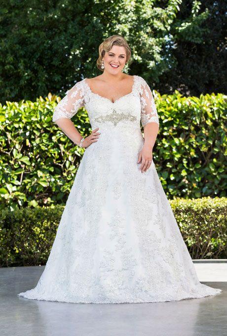Imágenes de vestidos de novia para gorditas con encaje bonitos