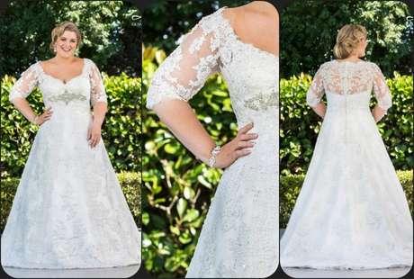 Vestidos de novia para gorditas de encaje