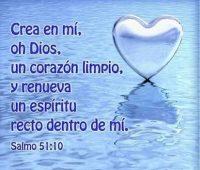 Imágenes que digan crea en mí oh Dios un corazón limpio