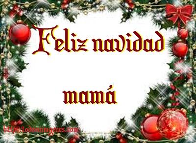 Feliz navidad mamá