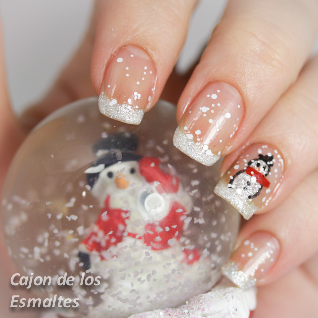 decoracion navidad nieve