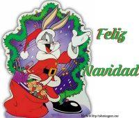 Imágenes de feliz navidad con bugs bunny