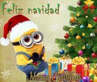 Imágenes de feliz navidad con los minions