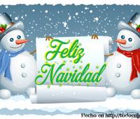 Imágenes de feliz navidad con muñecos de nieve