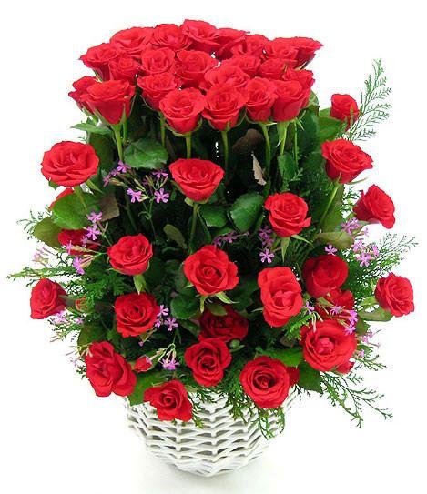 with ramos de rosas hermosas
