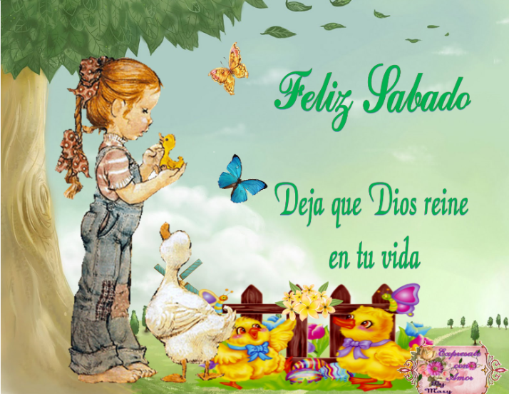 Feliz sábado que Dios derrame bendiciones en tu vida