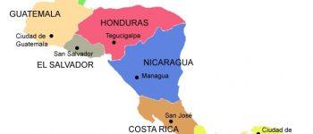 El Mapa de centro américa es el qe