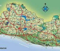 Mapa del salvador con sus municipios