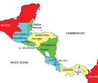 Mapa de centro américa