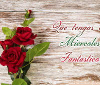 Imágenes de feliz miércoles con rosas rojas