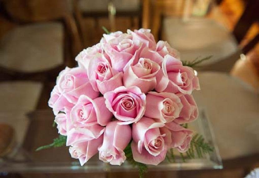 Flores rosadas para ramos de novia