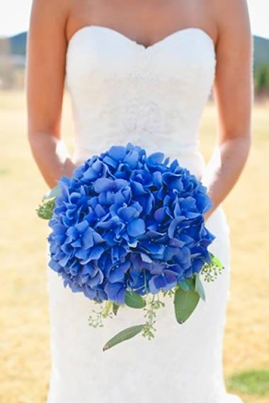 ramos de flores hortensias para novia