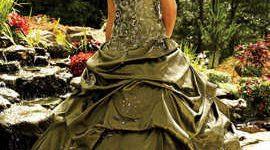 vestido de novia militar