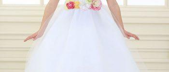 Vestidos con flores blanco