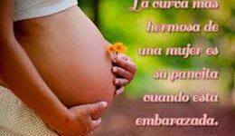 Imágenes con mensajes bonitos para una mujer embarazada