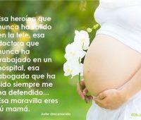 Imágenes con mensajes para una mujer embarazada