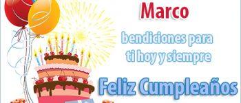 Imágenes de Feliz cumpleaños Marcos para dedicar