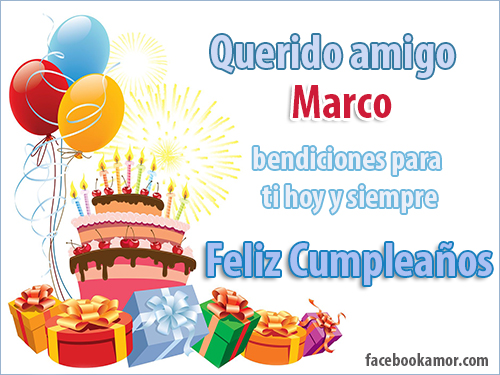 Imágenes de Feliz cumpleaños Marcos | Descargar imágenes gratis