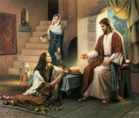 Imágenes de Jesús con marta y maria