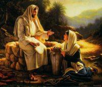 Imágenes de Jesús y la samaritana