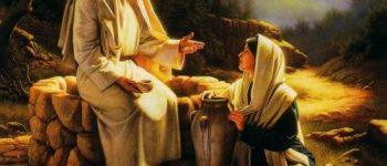 Imágenes de Jesús y la mujer samaritana