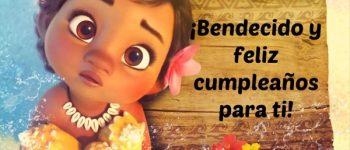 Imágenes de feliz cumpleaños con moana para compartir