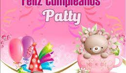 Imágenes de feliz cumpleaños hermosas paty