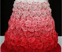 Imágenes de pasteles de rosas