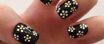 Imágenes de uñas decoradas con lindas flores Faciles