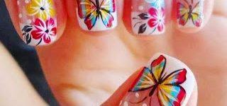 Imágenes de uñas decoradas con mariposas bonitas