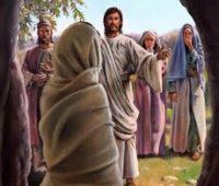 Imágenes de Jesús con lázaro