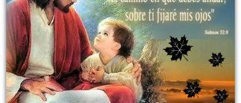 Imágenes de Jesús con niños y frases cristianas
