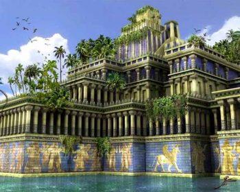 Los jardines colgantes de babilonia catalogada como una de las siete maravillas del mundo antiguo