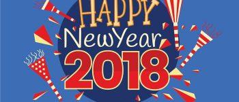 Feliz año nuevo 2018 para dedicar