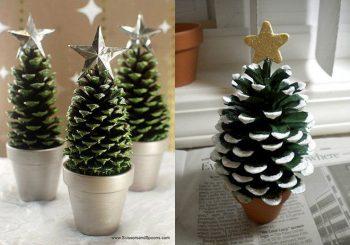 árbol de navidad con flor de pino