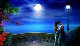 Pareja enamorada en un paisaje romántico