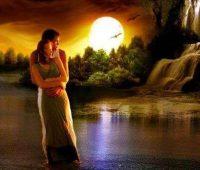 Imágenes de paisajes románticos puesta del sol