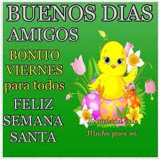 pollito amarillo con flores y frases de feliz viernes