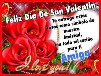 Rosas rojas con corazón de san valentín