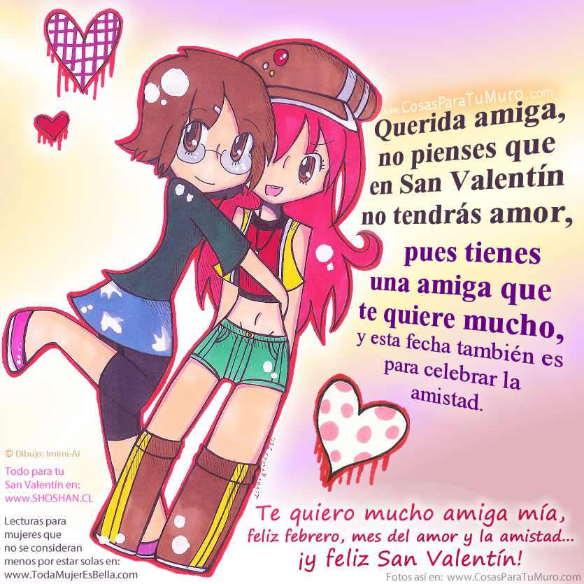 Imágenes De Feliz San Valentín Para Mi Amiga Descargar