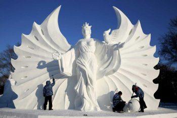 Estatuas hechas con hielo