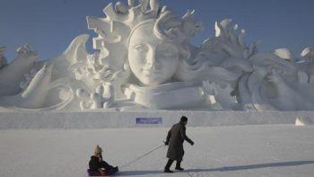 esculturas de la Ciudad de hielo