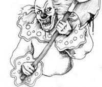 Imágenes de payasos de terror para dibujar